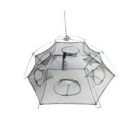 Wholesale Hot Sale Side Holes cm Large Nylon Foldable Fishing Net Folding Trap Shrimp Cage H11307