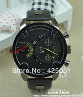 Cheap Wholesale-OP-dieseler mens watches top brand luxury leather oversized zone fashion sport watches for men DZ cheap watch Wristwatch 7257