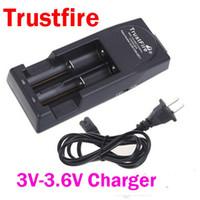 battery charger voltage - Free DHL V V voltage TrustFire TR001 Lithium Battery Charger for Battery Black or White