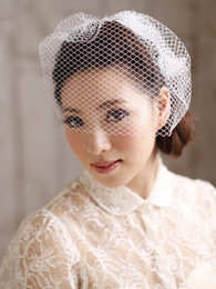 New Arrival Charming White Wedding Hats Birdcage Face Veil Bridal Fascinator Bridal Veils