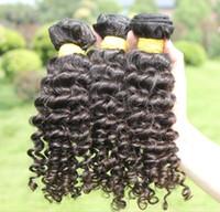 100g Brazilian Hair Natural Color Rosa Hair Products Brazilian Deep Wave Human Hair Extensions Remy Hair 3Pieces Lot Brazilian Weave Bundles Free Shipping Virgin Hair Weaving