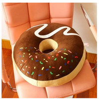 Wholesale Large Chocolate donuts pillow thickening pie cushion multi purpose nap pillow Home Decoration Creative cookie gift