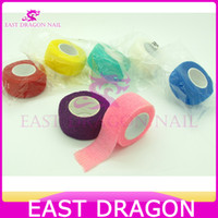 Wholesale OP Mix Color Nail Tool Self adhesive Nail Art Bandage Finger Manicure bandage cm m