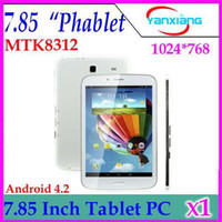 Cheap DHL 1PCS New 7.85 inch MTK8312 Dual Core Android Tablet PC With Sim Card Slots Double Standby GPS Bluetooth WiFi FM 3G Phablet YX-MID-34
