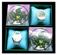 Wholesale Hot Teenage Mutant Ninja Turtles Style Pattern Cartoon Girls Kids Children Wrist Watch Gift