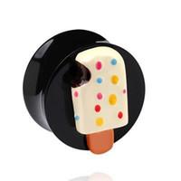 Cheap UV acrylic body piercing jewelry three-dimensional ear double ice cream plug ,32pcs lot