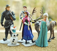 free shipping anime - Frozen Action Figure Toys Set Frozen Princess Anna Elsa Figures Sets TV movie Cartoon Anime Kids Toys