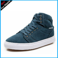 Wholesale NIB Men s Gray Leather Casual Sneakers Boots shoes Size