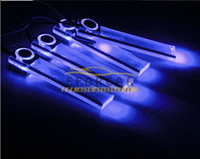 Wholesale 3x Romance in LED Atmosphere Lights V Car Auto Interior Decoration Lamp With Cigarette lighter Blue