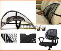 Cheap 3x Lumbar Cushion Pad Car Seat Office Chair Massage Back Lumbar Support Mesh Ventilate Black Free shipping