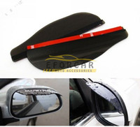Wholesale 10x Universal Car Back Mirror Eyebrow Rain Cover Weatherstrip Rearview Mirror Rain Shade Car Styling PVC Rainproof Blades