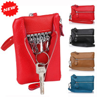 best selling purses - Best selling women multifunctional Genuine Leather key holders wristlet clutch coin bag wallet Cow PU LEATHER Purse YB DM158