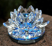 Wholesale Wonderful Crystal Lotus Car Freshener Car Perfume Bottles Interior Accessories Crystal Carfts Home Decoration ZH1459