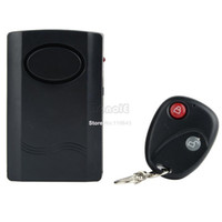 Wholesale 3pcs New Arrival Black Wireless Remote Control Vibration Alarm for Door Window Dropshipping