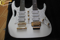Cheap 6 + 12 strings Double neck electric guitar Fretboard white tree of life Free shipping