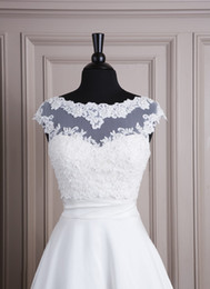 High Quality White Applique Lace Bridal Bolero Wedding Jacket Wedding Bolero Bridal Shrug Bridal Jacket
