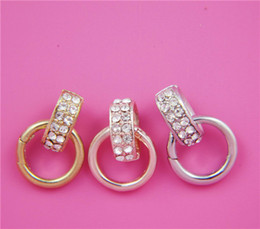 Wholesale 2015 Newest Pnapan Spring Clasp for Floating Locket Pendant with Crystals no locket