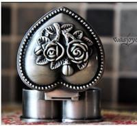 Wholesale European Russia Gothic classic princess metal jewelry box rose casket lover heart jewellery box