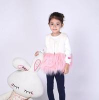 Wholesale 2014 Autumn Winter Girl Deluxe Fur Patchwork Waistcoat For Yrs Girls Tops Kids Fleece Vest Coats Color Garment Children Coat I1794