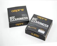 Cheap Aspire ET BDC Clearomizer 100% Original ET BDC Atomizer Bottom Dual Coil vaporizer Aspire ET BDC EGO Atomizer 15pcs