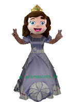 Cheap 2014 New Free Shipping deluxe sofia mascot costume sofia dress Real Pictures! Fans do a gift for free