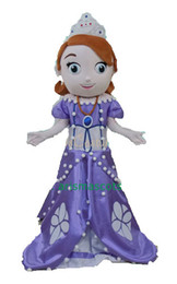Wholesale 100 real pictures Princess Sofia Mascot Costume Cartoon Costumes Party Dress