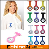 nurse gifts - Mix Color Fashion Silicone Nurse Watch Brooch Fob Tunic Quartz Movement Watch Christmas Gift
