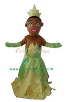 Cheap 100% real pictures princess tiana dress mascot tiana costume princesa party costumes princess sofia dress free shipping