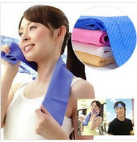Wholesale Towel cm Cold Towel Exercise Sweat Summer Sports Ice Cool Towel PVA Hypothermia Cooling Towel Free DHL