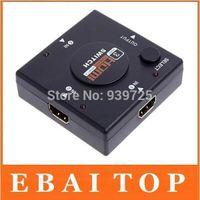 Wholesale 200Pcs Mini Port HDMI Switch Switcher HDMI Splitter HDMI Port for HDTV P Vedio DHL FEDEX