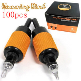 Wholesale 100x Disposable Tattoo Grips Humming Bird Tubes Sterilized Assorted quot mm Kits Machine Grips Top