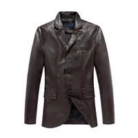 2014 Brand New Men' s Leather Jacket coats size: M L XL ...