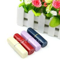 Cheap Wholesale 5pcs lot New Secret Lipstick Shaped Stash Medicine Pill Pills Box Holder Organizer Case