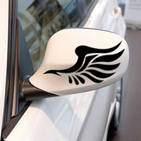 wing mirror - Reflective personalized car stickers reflective stickers fashion mirror a pair of wings car styling