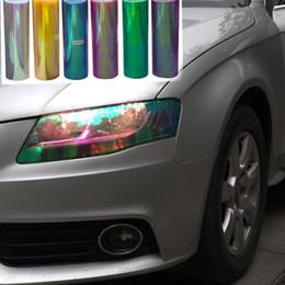 Changement de couleur des phares en Ligne-30cm * 120cm Shiny Chameleon Auto Car Styling phares Feux arrière translucides feux de film tourné le film Changer la couleur de voiture Sticks Autocollants