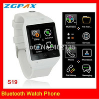 Cheap SZDEVEC Bluetooth smart watch wich connect with Android and IOS phone for calling, SMS, facebook, twitter, Capacitive touch screen S19