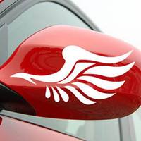 wing mirror - Reflective stickers personalized car stickers car sticker reflective stickers fashion mirror a pair of wings car styling