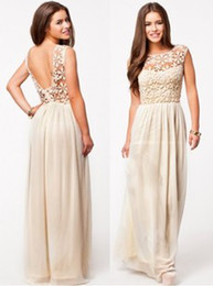 Wholesale 2014 Women Summer Dress White Sleeveless Top Crochet Sexy Party Dresses Chiffon Casual Dress Vestidos Lace Long Dress ND213
