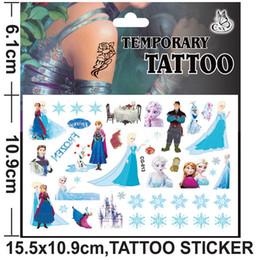 Wholesale 200pcs In Stock Frozen Kids Elsa Anna Body Tatoos Snow Queen Children Fashion Body Sticker Cartoon Child Gift Temporary Tattos