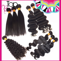 6A Grade Malaysian Indian Brazilian Hair Body Wave Loose Curly Straight Virgin Hair Extensions 100g New Mix Length Wholsale Price Bundles