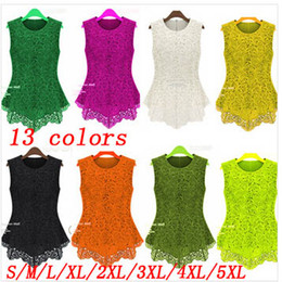 HOT SALE Fashion Dresses!!!13 COLORS S-5XL PLUS SIZES! New Spring Summer Women Lace Dress Clothing Sleeveless Street Runway Party Dress E57