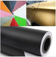 Wholesale 127 CM High Quality D Carbon Fiber Vinyl Car Wrapping Foil Car Sticker