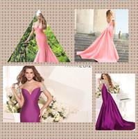 Cheap 2014 Unique Crystal Beaded Prom Dresses Off Shoulder Sleeveless Mermaid Sweep Train Satin Tarik Ediz Evening Dresses Party Fiesta Gown WH554