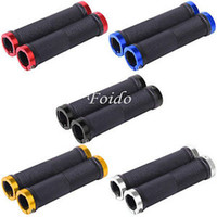 Wholesale 1 Pair Mountain Bike MTB BMX Bicycle Cycling Double Lock On Handlebar Grips Ends