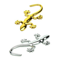 Wholesale Fashion Metal Pure Decorative Styling Cool D Emblem Lizard Sticker Metal Gecko Car Stickers Piece A Package