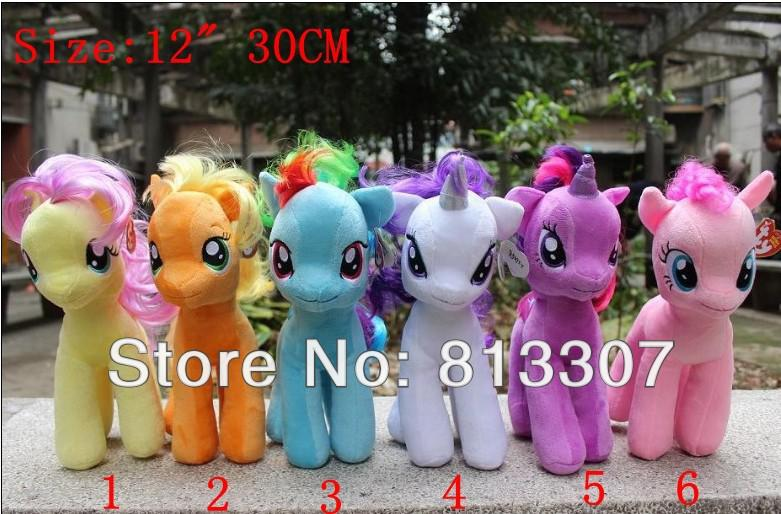 """... Toy 12"""" 30cm Pony Plush Doll Toy Six Colors Can Choose Free Shipping: www.dhgate.com/product/my-little-pony-plush-baby-toy-12-quot-30cm..."""