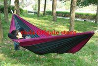 Wholesale portable parachute cloth hammock X cm Double Person Hammock camping outdoor leisure