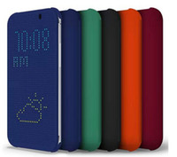 Wholesale Dot View Case For HTC One M8 Case Cover smart case Dot view jelly color Colors New Fashion Min Order