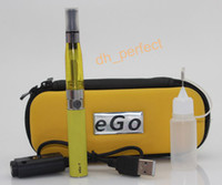 Black   CE4 eGo Starter Kit E-Cig Electronic Cigarette Zipper Case Package Single Kit 650mah 900mah 1100mah Various Colors Available