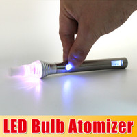 DHL free !!! LED Bulb Atomizer Glass Globe Vaporizer LED wax...